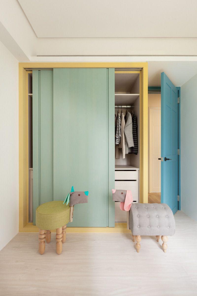 Konstantaras.net - Παιδικά Έπιπλα - Ντουλάπα με συρόμενη πόρτα