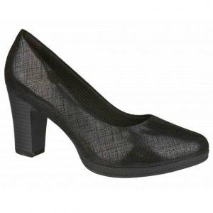 MEDICAHELLAS - Υπόδηση - Γυναικεία Μαύρα Ανατομικά Παπούτσια Με Τακούνι Piccadilly